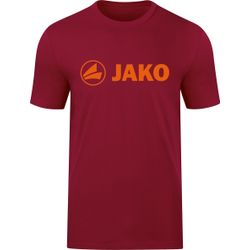 Jako Promo T-Shirt Hommes - Rouge Vin / Orange Fluo