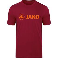 Jako Promo T-Shirt Dames - Wijnrood / Fluo Oranje