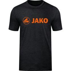 Jako Promo T-Shirt Dames - Zwart Gemeleerd / Fluo Oranje