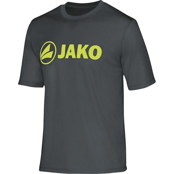 Jako Promo Functioneel T-Shirt Kinderen - Antraciet / Lime