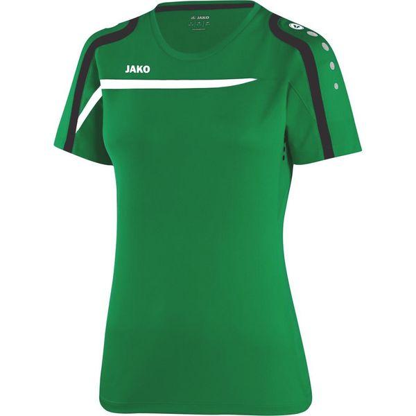 Jako Performance T-Shirt Dames - Sportgroen / Wit / Zwart