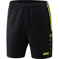Jako Competition 2.0 Short - Zwart / Fluogeel