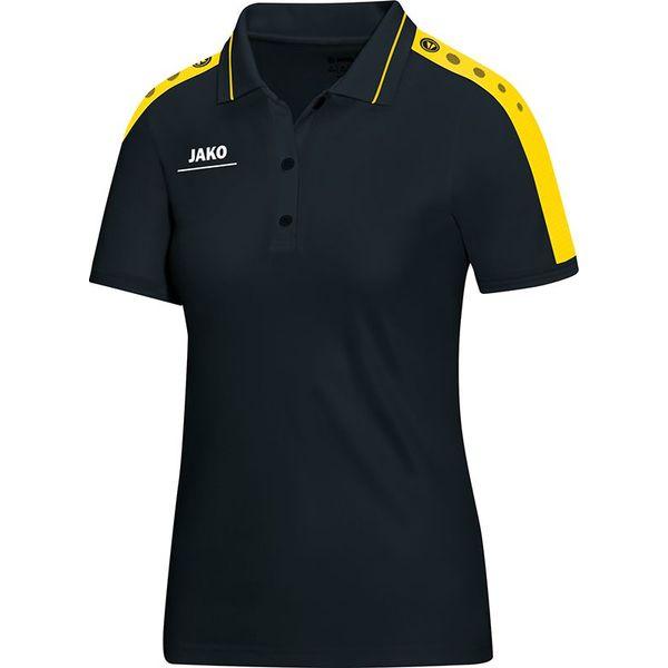 Jako Striker Polo Dames - Zwart / Citroen