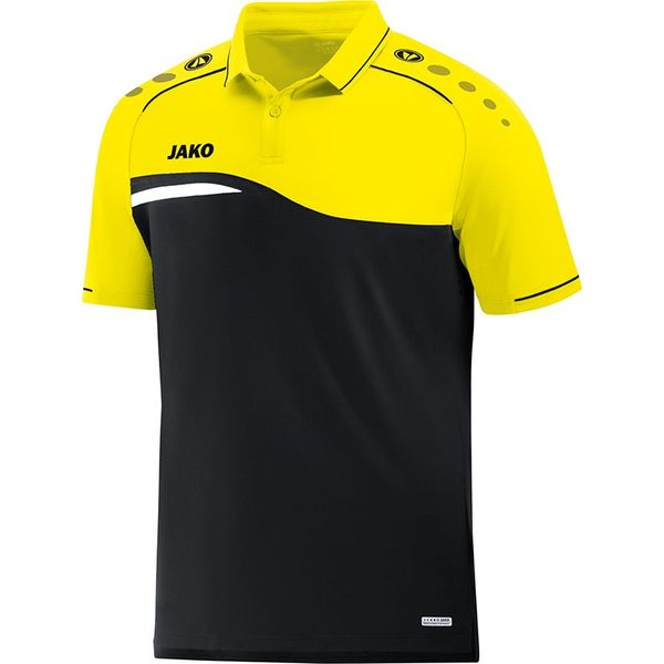 Jako Competition 2.0 Polo - Zwart / Fluogeel