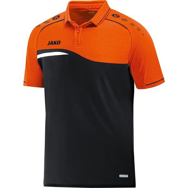 Jako Competition 2.0 Polo Kinderen - Zwart / Fluo Oranje