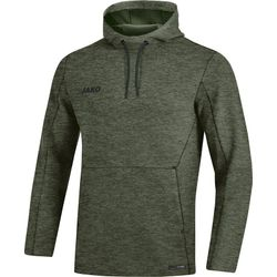 Jako Premium Basics Sweater Met Kap - Kaki Gemeleerd