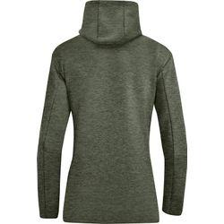 Voorvertoning: Jako Premium Basics Sweater Met Kap Dames - Kaki Gemeleerd