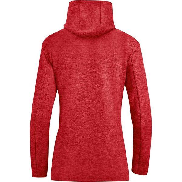 Jako Premium Basics Hoodie Dames - Rood Gemeleerd