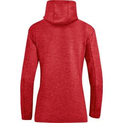 Voorvertoning: Jako Premium Basics Hoodie Dames - Rood Gemeleerd