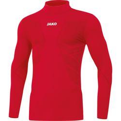 Jako Comfort 2.0 Shirt Opstaande Kraag Kinderen - Sportrood