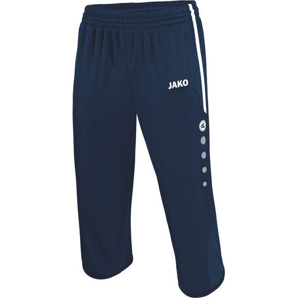 Jako Active Pantalon D'Entraînement 3/4 Hommes - Marine / Blanc