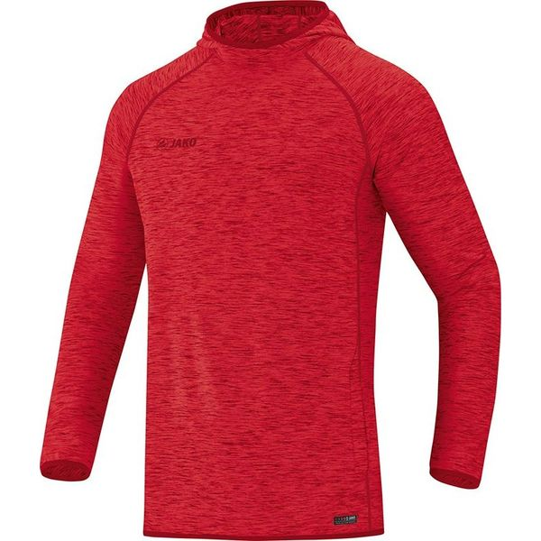 Jako Active Basics Sweater Met Kap Heren - Rood Gemeleerd