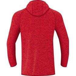 Voorvertoning: Jako Active Basics Sweater Met Kap Heren - Rood Gemeleerd