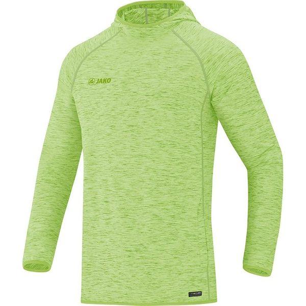 Jako Active Basics Sweater Met Kap Heren - Fluogroen Gemeleerd