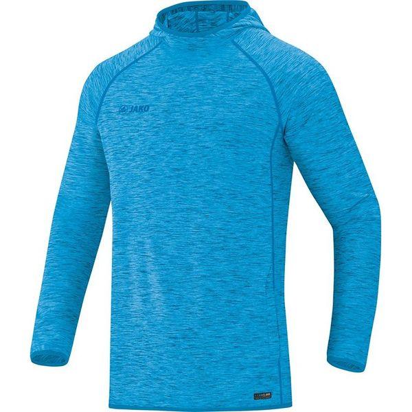 Jako Active Basics Sweater Met Kap Heren - Jako Blauw Gemeleerd