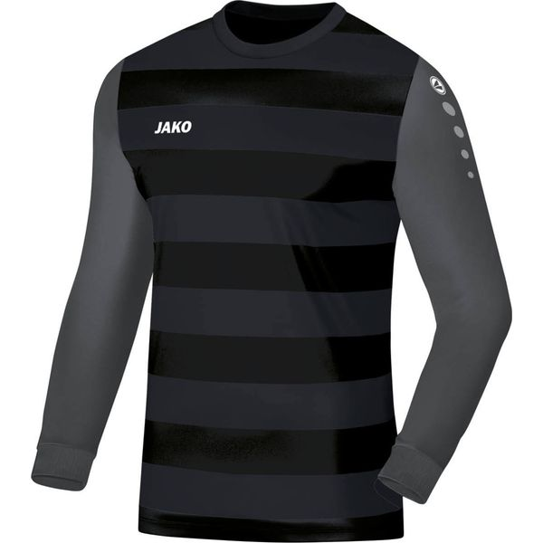 Jako Leeds Keepershirt Lange Mouw - Zwart / Antraciet