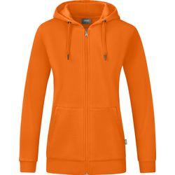Jako Organic Jas Met Kap Dames - Oranje