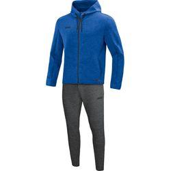 Jako Premium Basics Joggingpak Met Kap Dames - Royal Gemeleerd