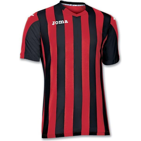 Joma Copa Shirt Korte Mouw Heren - Rood / Zwart