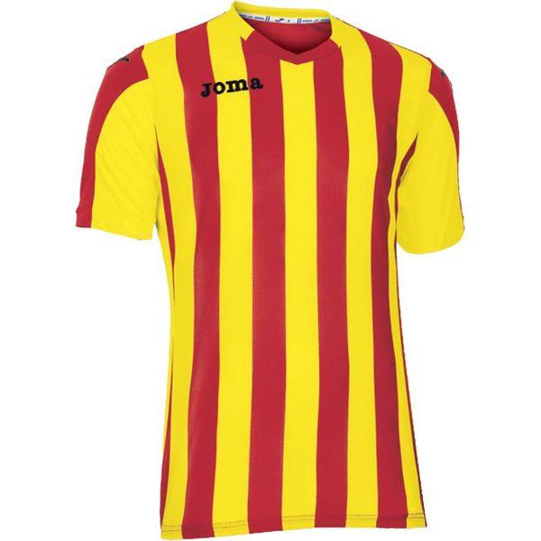 Joma Copa Shirt Korte Mouw Kinderen - Rood / Geel