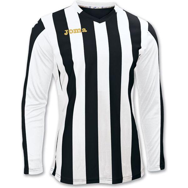 Joma Copa Voetbalshirt Lange Mouw Heren - Zwart / Wit