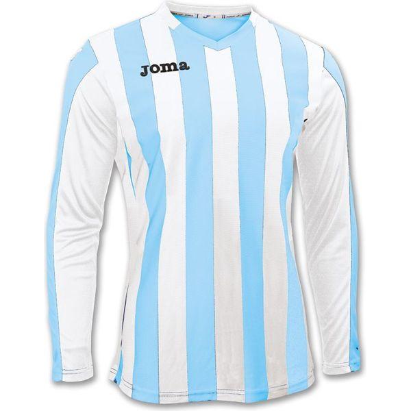 Joma Copa Voetbalshirt Lange Mouw Kinderen - Hemelsblauw / Wit