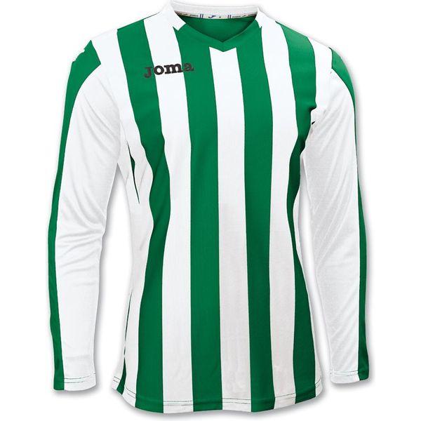 Joma Copa Voetbalshirt Lange Mouw Kinderen - Green Medium / Wit