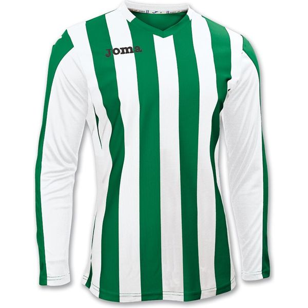 Joma Copa Voetbalshirt Lange Mouw Heren - Green Medium / Wit
