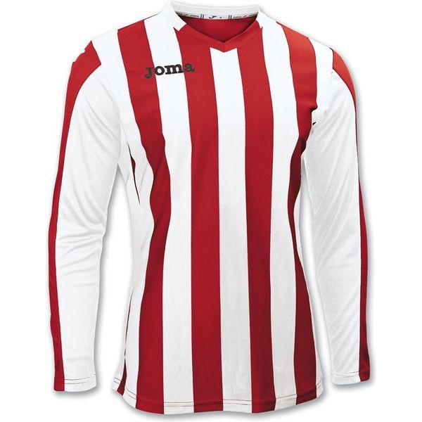 Joma Copa Voetbalshirt Lange Mouw Kinderen - Rood / Wit