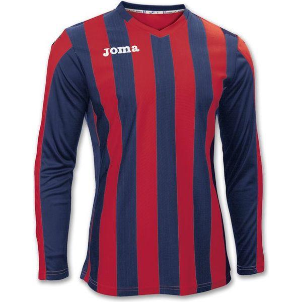 Joma Copa Voetbalshirt Lange Mouw Kinderen - Rood / Marine
