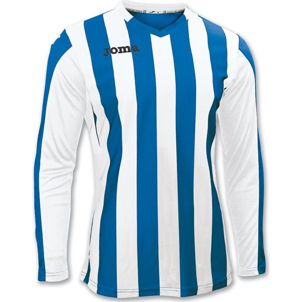 Joma Copa Voetbalshirt Lange Mouw Heren - Royal / Wit