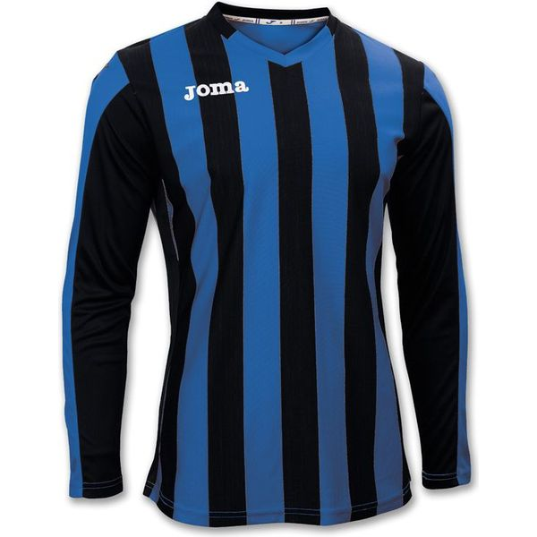 Joma Copa Voetbalshirt Lange Mouw Heren - Royal / Zwart