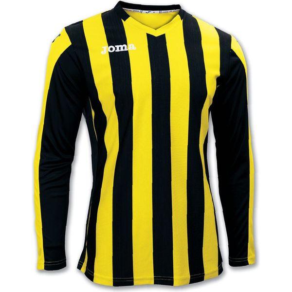 Joma Copa Voetbalshirt Lange Mouw Heren - Zwart / Geel