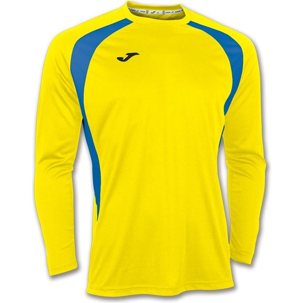 Joma Champion III Voetbalshirt Lange Mouw Heren - Geel / Royal