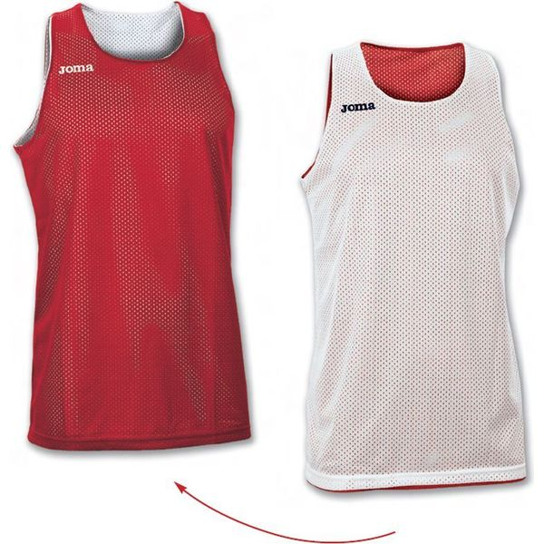 Joma Aro Reversible Shirt Kinderen - Rood / Wit