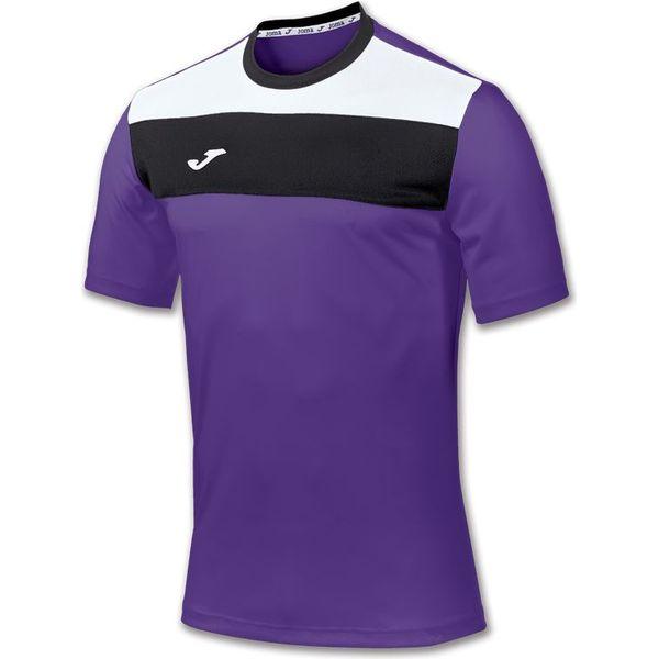 Joma Crew Shirt Korte Mouw Heren - Violet / Wit / Zwart