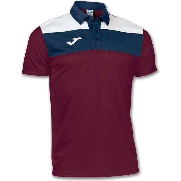 Joma Crew Polo Heren - Bordeaux / Marine / Wit