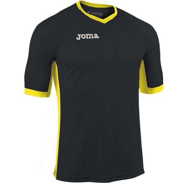 Joma Emotion Shirt Korte Mouw Heren - Zwart / Geel