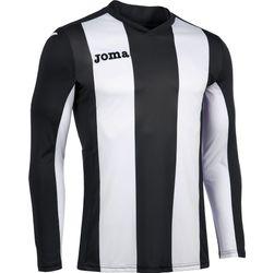 Voorvertoning: Joma Pisa Voetbalshirt Lange Mouw Kinderen - Zwart / Wit