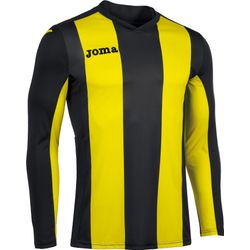 Joma Pisa Voetbalshirt Lange Mouw Heren - Zwart / Geel