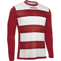 Joma Europa III Voetbalshirt Lange Mouw Heren - Wit / Rood