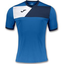 Joma Crew II Maillot Manches Courtes Hommes - Royal / Marine / Blanc