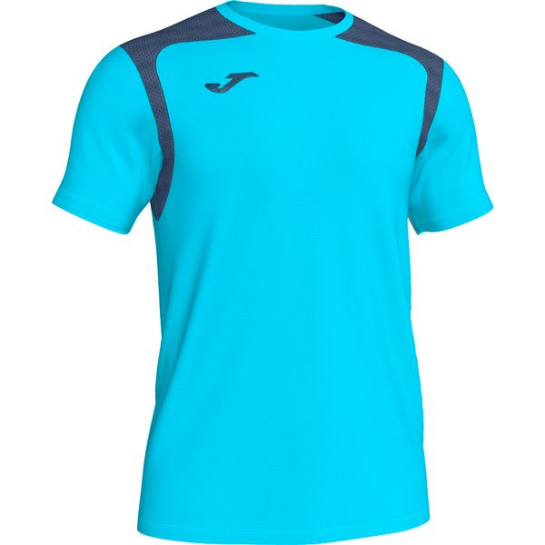 Joma Champion V Shirt Korte Mouw Heren - Fluor Turquoise / Donker Navy