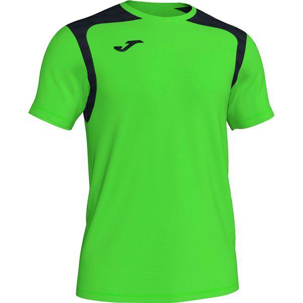 Joma Champion V Shirt Korte Mouw Heren - Fluo Groen / Zwart