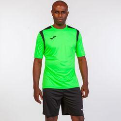 Voorvertoning: Joma Champion V Shirt Korte Mouw Heren - Fluo Groen / Zwart