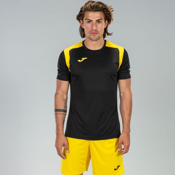 Joma Champion V Shirt Korte Mouw Heren - Zwart / Geel