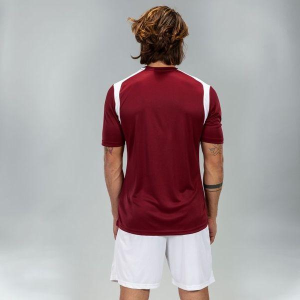 Joma Champion V Shirt Korte Mouw Heren - Bordeaux / Wit