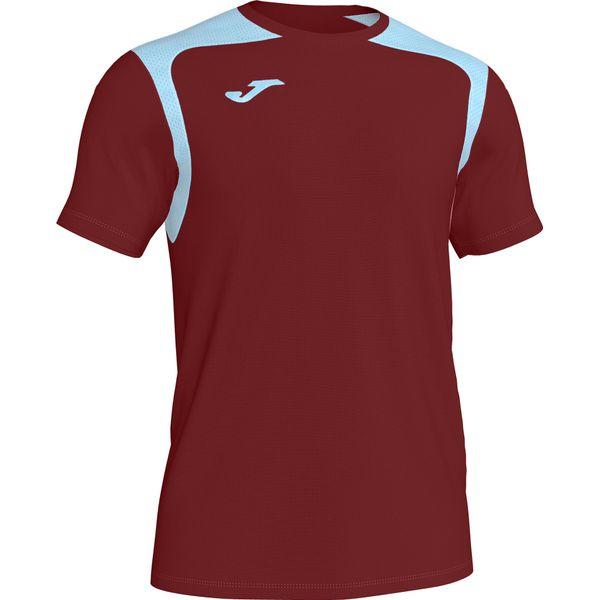 Joma Champion V Shirt Korte Mouw Heren - Bordeaux / Hemelsblauw