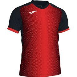 Joma Supernova Shirt Korte Mouw Heren - Zwart / Rood