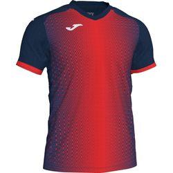Joma Supernova Shirt Korte Mouw Kinderen - Marine / Rood